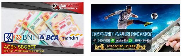 Deposit akun sbobet dari bank
